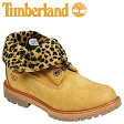[SOLD OUT]送料無料 ティンバーランド Timberland レディース キッズ オーセンティックス ロールトップ [ ウィート × レオパード ] AF AUTH ROLL TOP ヌバック 8139A [ 正規 あす楽 ]