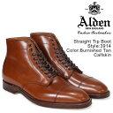 ALDEN オールデン ブーツ ストレートチップ メンズ STRAIGHT TIP BOOT Dワイズ 3914
