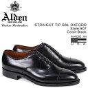 ALDEN オールデン ストレートチップ シューズ メンズ STRAIGHT CAP TOE BAL ブラック Dワイズ 907 [9/6 再入荷]