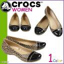 クロックス crocs レディース サンダル パンプス キャップトゥ CAP TOE GRAPHIC FLAT 20068