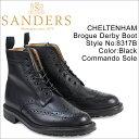 サンダース 靴 SANDERS ミリタリー カントリーブーツ CHELTENHAM 8317B メンズ ブラック 予約商品 3/22頃入荷予定 再入荷