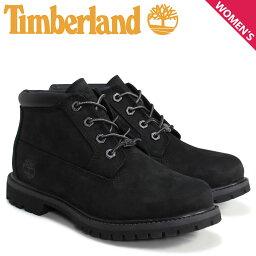 ティンバーランド チャッカ ブーツ レディース Timberland WOMEN'S NELLIE WATERPROOF CHUKKA BOOTS 23398 Wワイズ 防水 ブラック