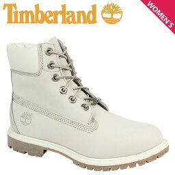 ティンバーランド レディース 6インチ Timberland ブーツ プレミアム WOMENS 6-INCH PREMIUM WATERPROOF BOOTS 23623 Wワイズ 防水 ホワイト