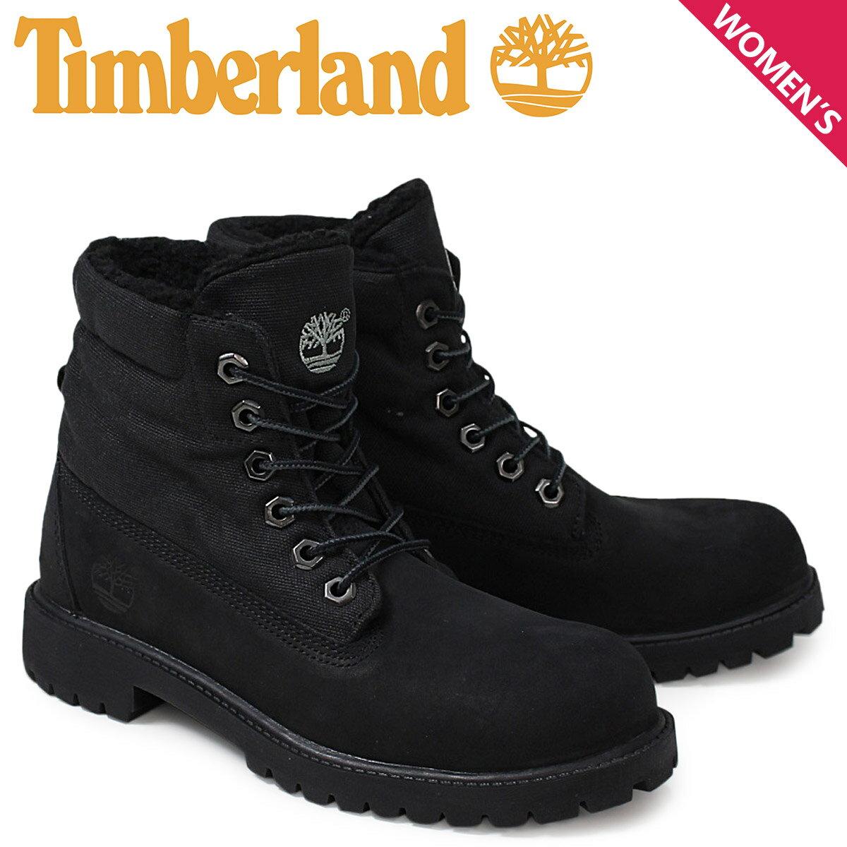 Timberland ティンバーランド レディース ロールトップ ブーツ  ROLLTOP BOOTS  43960 Mワイズ 防水  ブラック あす楽 [10/28 新入荷]