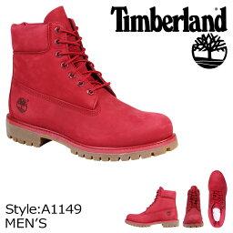 ティンバーランド 6インチ メンズ Timberland ブーツ プレミアム 6-INCH PREMIUM WATERPROOF BOOTS A1149 Wワイズ 防水 レッド [8/10 追加入荷]