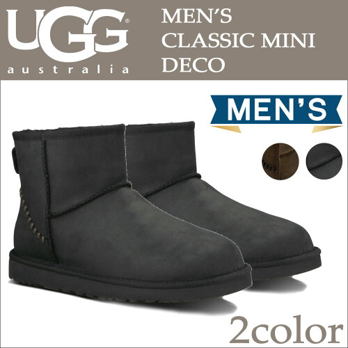 UGG アグ メンズ クラシック ミニ ムートンブーツ MENS CLASSIC MINI DECO 1003945 あす楽