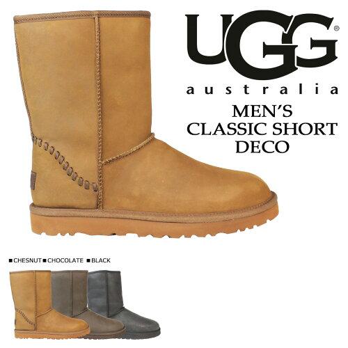 UGG アグ メンズ クラシック ショート ムートンブーツ  MENS CLASSIC SHORT DECO  1007307 シープスキン あす楽