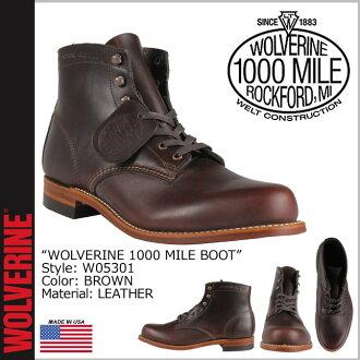 Wolverine WOLVERINE 1000 mile plain toe boots W05301 1000 MILE BOOT ORIGINAL leather men's Wolverine