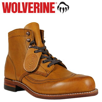 Wolverine WOLVERINE 1000 mile wing chip boots W05343 1000MILE ADDISON WING TIP BOOT leather men's Wolverine