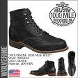 ウルヴァリン WOLVERINE 1000マイル ブーツ ADDISON 1000MILE WINGTIP BOOT Dワイズ W05344 ブラック ウィングチップ ワークブーツ メンズ あす楽