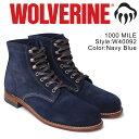 ウルヴァリン 1000マイル ブーツ WOLVERINE 1000MILE ワークブーツ メンズ 1000 MILE BOOT Dワイズ W40092 ネイビー
