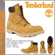 [SOLD OUT]送料無料 ティンバーランド Timberland 6インチ ベーシック ウォータープルーフブーツ 6inch Basic Waterproof Boot with Padded Collar ヌバック メンズ 18094 ウィート [ 正規 あす楽 ]