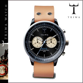 Tri TRIWA×Tarnsjo watch NEAC 101-T NEVIL RAVEN TAN leather mens Womens 2013 new