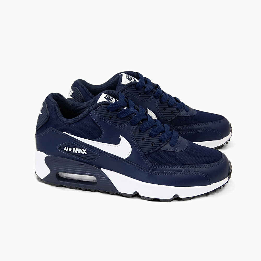 NIKE AIR MAX 90 MESH GS 833418-400 MIDNIGHT NAVY/WHITE-BLACK Nike Air Max 90 mesh GS Navy white black dark blue black and white women\u0026#39;s Air Max