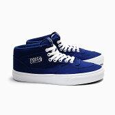 VANS バンズ メンズ スニーカー CLASSICS HALF CAB BLUE PRINT/TRUE WHITE VN000UC8IAM ハーフキャブ キャンバス vansスニーカー USA ヴァンズ HALFCAB ミッドカット キャンバス ブルー ホワイト 青白 MEN'S SNEAKER SKATE SHOES 靴 SHOP