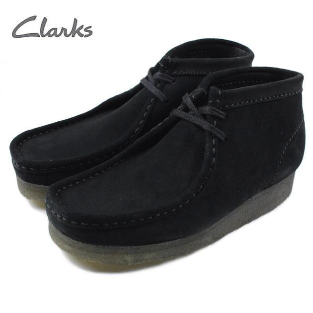[D]クラークス Clarks WALLABEE BOOT ワラビーブーツ ブラック 751F-BS