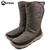 [D]crocs クロックス duet busy day boot w デュエット ビジーデイ ブーツ ウィメン エスプレッソ/マッシュルーム 15763-23D