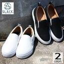 定番 スラック SLACK スニーカー カーマー LX CALMER LX SL1225 ホワイト/ホワイト(102) ブラック/ホワイト(001) 【FNOG】