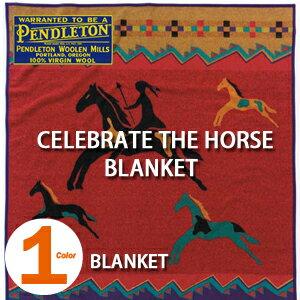 PENDLETON「CELEBRATE THE HORSE COLLECTION」 BLANKET RED ZL494ペンドルトン セレブレイト ザ ホース ブランケット レッド【あす楽対応】