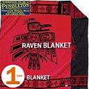 PENDLETONRAVEN BLANKET ZD423ペンドルトン レイブン ブランケット レッド ブラック【あす楽対応】【0304superP10】