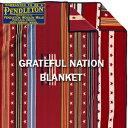 PENDLETON「GRATEFUL NATION」 BLANKET ZE494ペンドルトン グレートフル ネーション ブランケット レッド【あす楽対応】