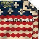 PENDLETONBRAVE STAR BLANKET ZE493ペンドルトン ブレイブスター ブランケット アメリカ国旗 星条旗柄 ネイビー レッド【あす楽対応】