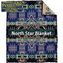 PENDLETONNorth Star Blanket ZD534-52774ペンドルトン ノース スター ブランケット ブルー ベッドカバー ソファーカバー ウール シーツ ラグ 毛布