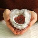 ダブルのハートで彼の心をゲット♪友チョコにも♪【送料無料】Wハート♪1輪の薔薇をおしゃれに【クリアケース付き】 【楽ギフ_メッセ】【楽ギフ_メッセ入力】