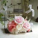 結婚式 電報 祝電 送料無料 プリザーブドフラワー 花 お祝い プリザーブド メッセージカード あす楽 ハッピーウエディングローズ ピンク