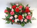 【送料無料】プリザーブドフラワーかごいっぱいのバラのお祝い フリーメッセージ付き 【誕生日】