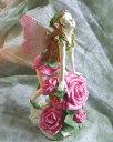 花の妖精オブジェルーム&ガーデンインテリア可憐な薔薇の花とフェアリー美しい癒し空間を作る