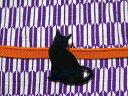 メール便OK!キュート!シャドーキャットの帯留め黒猫のかわいいシルエット3分紐に使える和装小物ギフトにもシャレてるね!