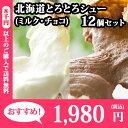 北海道とろとろシュー12個セット(ミルク/チョコ) シュークリーム/シューアイス/お歳暮/ギフト/贈答品/プチギフト/お菓子/洋菓子/スイーツ/おかし/チョコレート/お取り寄せ