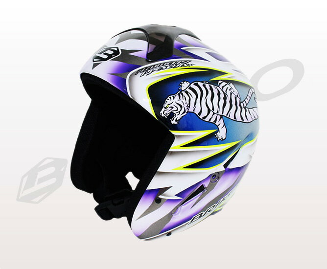 ★ normally in flight (courier) ★ graphic design painting theme アズメリープレゼンツ the design of white tiger BRIKO 013140P BYAKKO brico mens & ladies helmets original paint white tiger 02P28oct13's