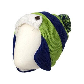 在木犀初中孩子的背刷保暖帽 REA77201 697 (海軍)