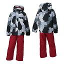 ONYONE (オンヨネ) キッズ 園児 スキーウェア 上下セット RES58004 009P056(BLACK/RED)