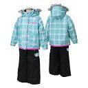 POCKETBEAR(ポケットベア)子供女の子用スキーウェアPBT-2513MINT(ミント/ブラック)