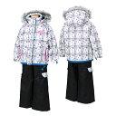 POCKET BEAR(ポケットベア) 子供 女の子用 スキーウェア PBT-2513 WHITE(ホワイト/ブラック)