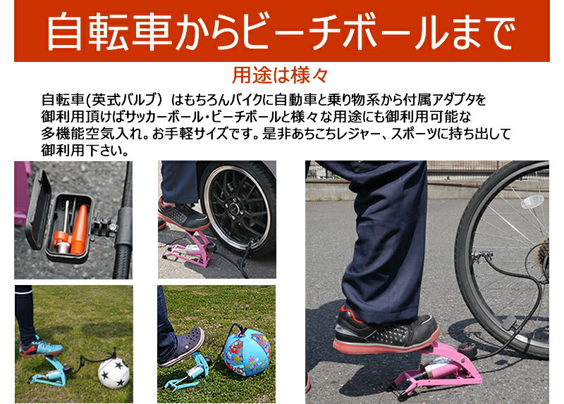 自転車の 自転車 空気 : ケース付き自転車&バイク空気 ...