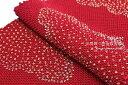 帯揚げ 正絹 絹100% 四つ巻 総絞り 金彩雲取り 赤 ラメ 帯あげ【あす楽対応】【メール便対応】