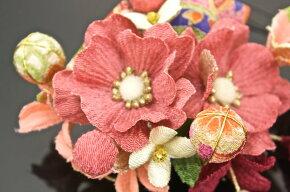 髪飾り2点セット成人式振袖卒業式袴はかまピンク花フラワー和柄リボンパールビーズ着物ふりそで髪かざり