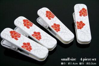 Neckband どめ dressing clip small four set peony petty person in Japanese dress