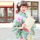 即納!【ブランド『Mai Shiraishi』浴衣3点セット】薄緑色/黄色/ピンク/朝顔/格子/TEIJIN/乃木坂46/白石麻衣/送料無料