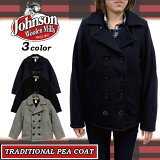 ����󥽥󥦡����ߥ륺JHONSONWOOLENMILLS������P���������ʥ��㥱�åȥ�������TRADITIONALPEACOAT�ͥ��ӡ��֥�å���ǥ�����(SPC73)