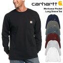 カーハート carhartt ORIGINAL FITポケット付き 長袖 Tシャツ ロンTWorkwear Poket L-