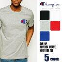 【クリアランスセール!!】チャンピオン Champion Tシャツ 半袖 ビッグプリントCロゴコットン メンズ Heritage Tee (T1919P) 【正規品】 【DM便発送可(1点のみ)】