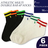 �ݥ���ե?�����POLORalphLaurenMen's�ݥˡ��ɽ����󥯥륽�å���ATHLETICMULTIDOUBLEBAR6PSOCKS����֤���󥺷���̵�ϥ֥���������(824103PK)