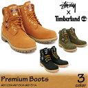 ステューシー ティンバーランド stussy Timberland 6インチ プレミアム ブーツ ウィートコラボ ブーツ 6inch Premium Boot Wネーム スチューシー メンズ (138283) 【正規品】【送料無料】