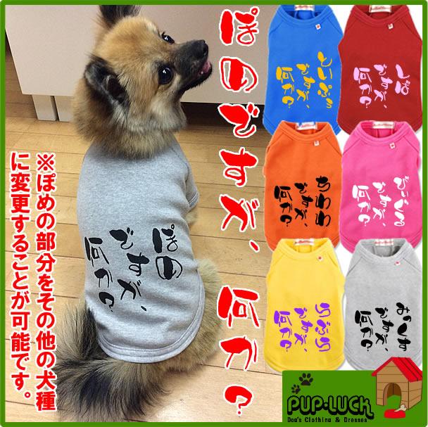 大寸ぽめですが、何か?犬種入りTシャツ日本製ドッグウェアペットウェア/大型犬用品/dogwear/い
