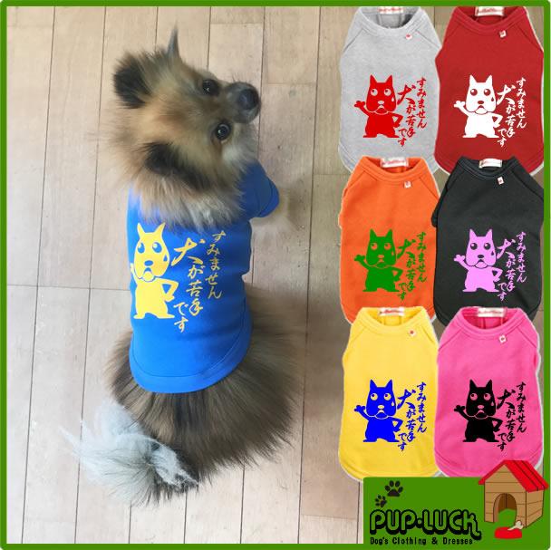 大寸すみません犬が苦手ですTシャツTシャツ日本製ドッグウェアペットウェア/大型犬用品/dogwear